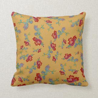 Red Peony Print Cushion