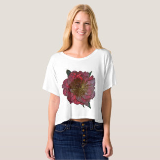 Red peony Top T-Shirt