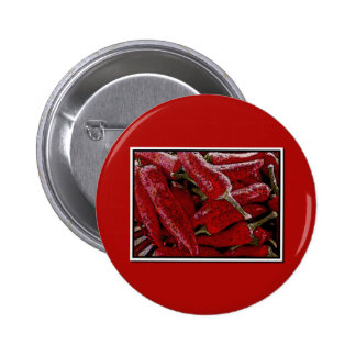 Red pepper pinback buttons