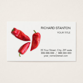Red pepper business card