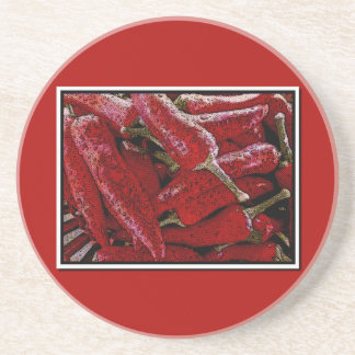 Red pepper coasters