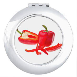 Red pepper compact mirror