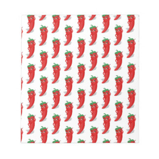 Red Pepper Diva Cartoon Pattern Notepad