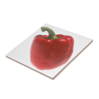 Red Pepper Small Square Tile