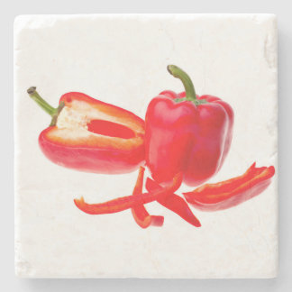 Red pepper stone coaster