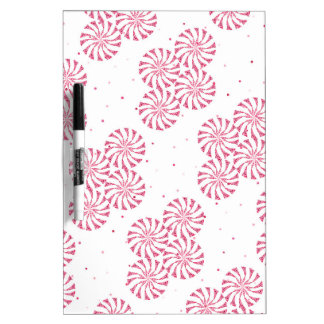 Red Peppermint Candy Christmas Sweets Pattern Dry-Erase Whiteboard