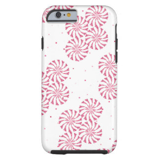 Red Peppermint Candy Christmas Sweets Pattern Tough iPhone 6 Case