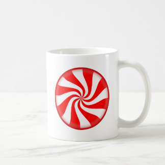 Red Peppermint Candy Coffee Mugs