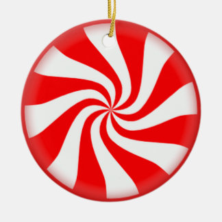 Red Peppermint Candy Ornament