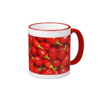 Red Peppers Ringer Mug