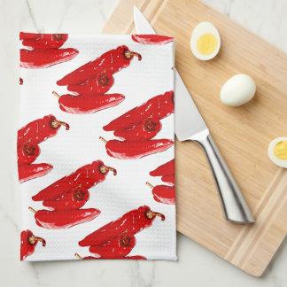 red peppers tea towel