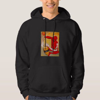 red percussionist hoodie