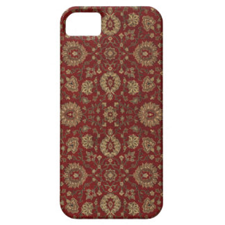 Red Persian scarlet arabesque tapestry Barely There iPhone 5 Case