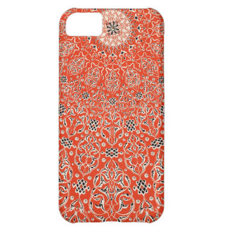Red Persian Textile Pattern Swirls Scrolls iPhone 5C Case