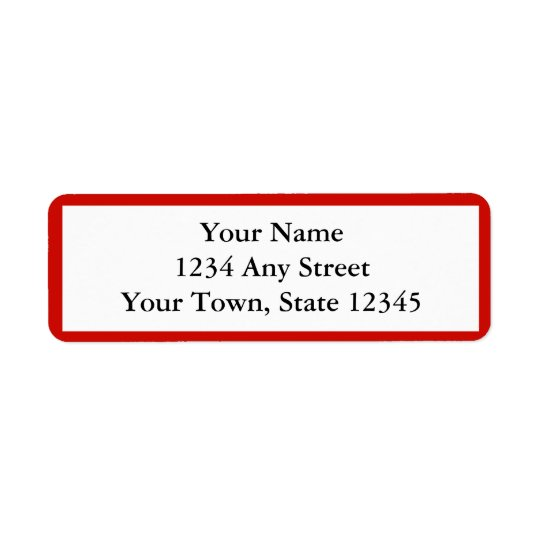 Red Personalised Envelope Return Address Labels