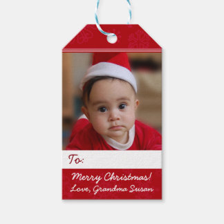 Red Personalized Christmas Holiday Photo