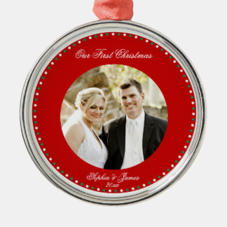 Red Personalized First Christmas Together Ornament