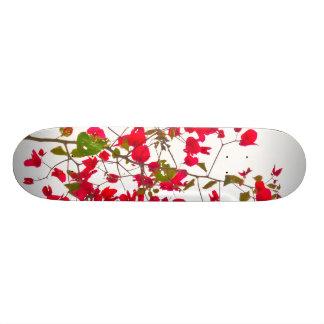 Red petals flowers skate decks