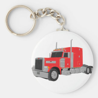 red peter built tractor basic round button key ring