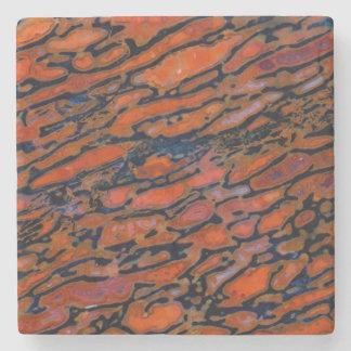 Red Petrified dinosaur bone Stone Coaster
