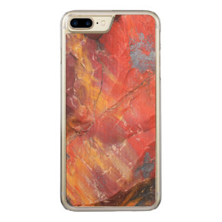 Red Petrified wood detail, Arizona Carved iPhone 7 Plus Case