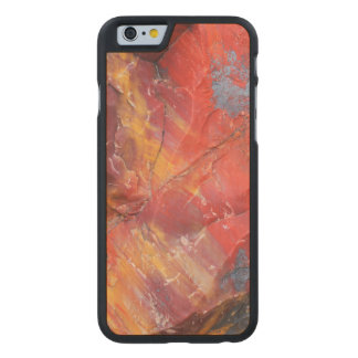 Red Petrified wood detail, Arizona Carved Maple iPhone 6 Case