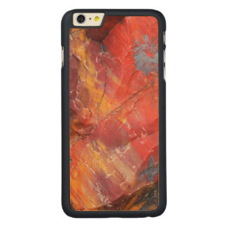 Red Petrified wood detail, Arizona Carved® Maple iPhone 6 Plus Case