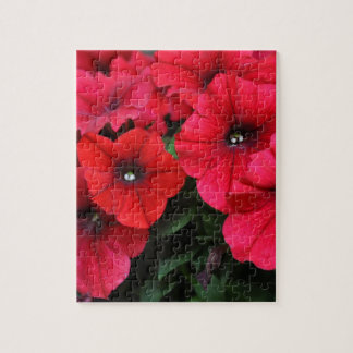 Red petunia flowers jigsaw puzzle