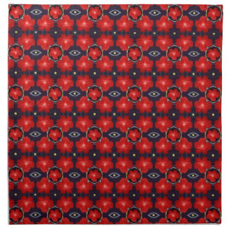 Red Petunia Pattern Napkin