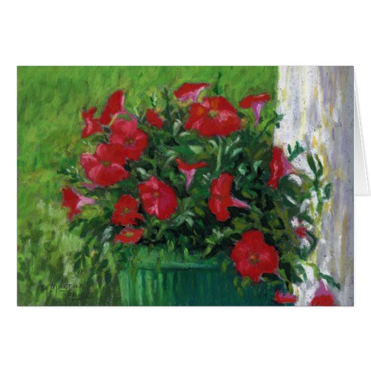 """Red Petunias"" Card"