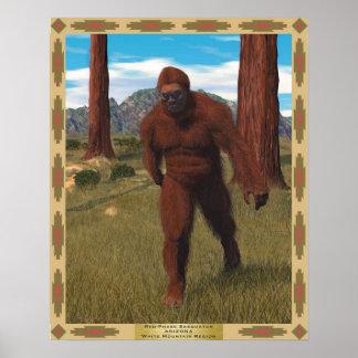 Red-phase Sasquatch  ARIZONA White Mountain Region Poster