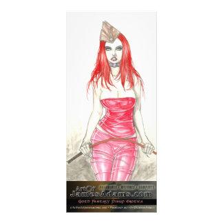 Red Phoenix Rising Rack Card