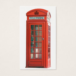 Phone box business cards business card printing zazzle red phone booth business card reheart Gallery
