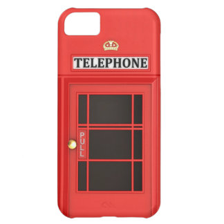 Red Phone Booth iPhone 5C Case