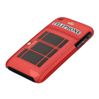 Red Phone Booth iPhone 3 Cover