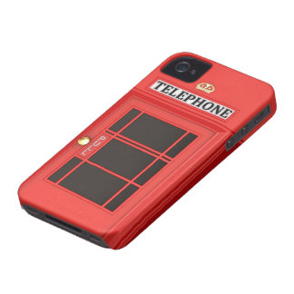 Red Phone Booth iPhone 4 Case-Mate Case