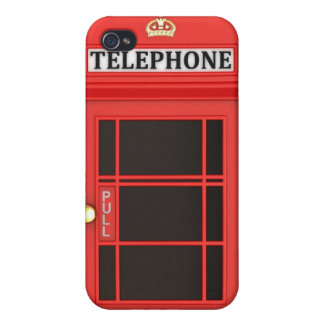 Red Phone Booth Case For iPhone 4