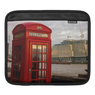 Red Phone Booth - London UK Sleeves For iPads