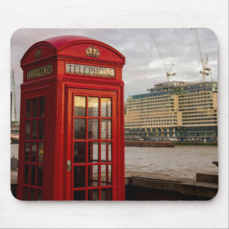 Red Phone Booth - London UK Mouse Pad