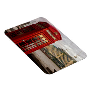 Red Phone Booth - London UK Rectangle Magnet
