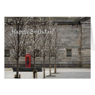 Red Phone Box in Royal William Yard Greeting Card