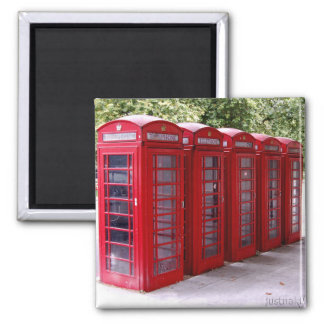 red phone box magnet