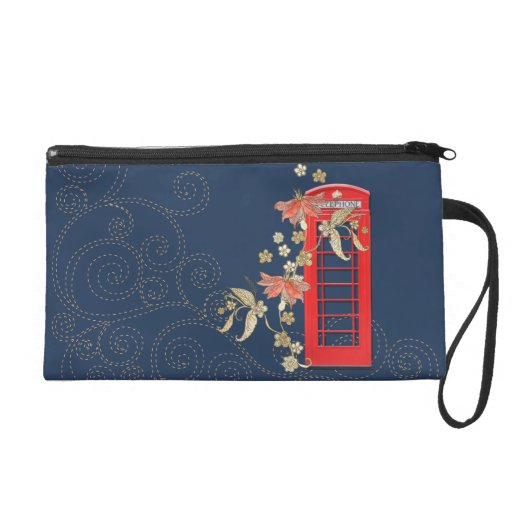 Red Phone Box Wristlet