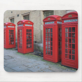 Red phone boxes mousepad