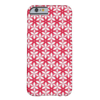Red Phone Case with White Floral Pattern Barely There iPhone 6 Case