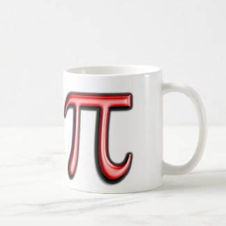 Red Pi Symbol Coffee Mug