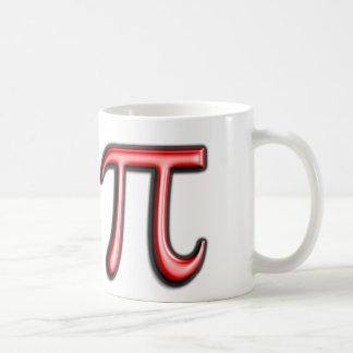 Red Pi Symbol Coffee Mug