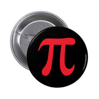 Red pi symbol on black background pinback buttons