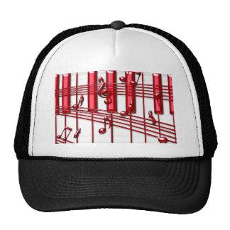 RED PIANO KEYBOARD CAP