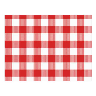 Red picnic checkers postcard